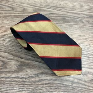 Robert Talbott Navy, Tan & Red Stripe Tie